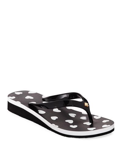 milli hearts flip-flop sandals