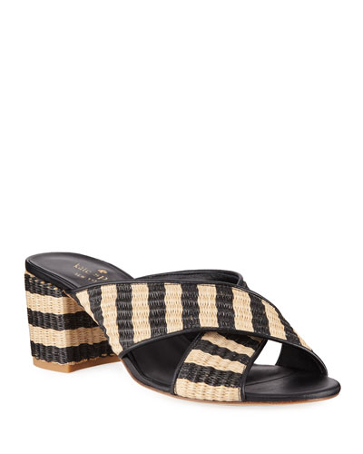Walter Raffia Slide Sandals