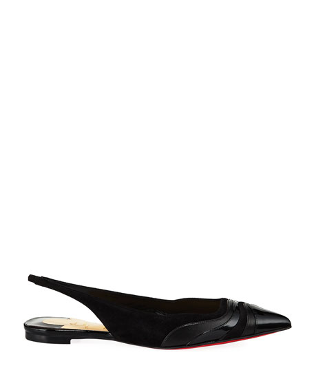 Christian Louboutin Degradama Red Sole Ballet Slingback Flats