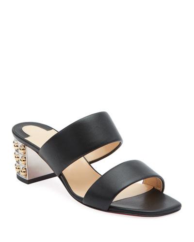 OptiCat Red Sole Slide Sandals