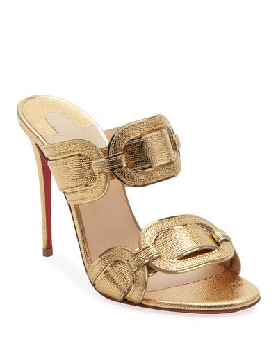 Balistra Specchio Red Sole Slide Sandals