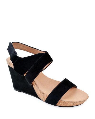 Trent Suede Wedge Sandals