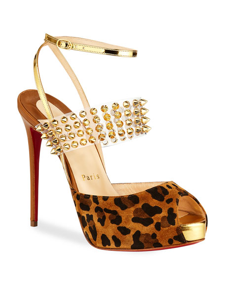 Image 1 of 3: Levita Girl Spike Red Sole Pumps