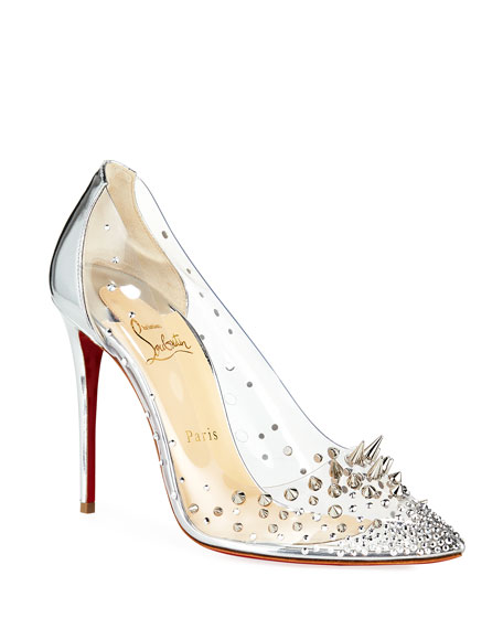 Christian Louboutin Grotika Spiked Red Sole Pumps