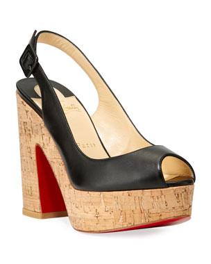 1091107ea477 Christian Louboutin Donna Anna 120 Napa Red Sole Sandals