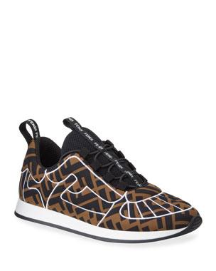 0f031bf0f16 Fendi Freedom FF Stretch Sneakers