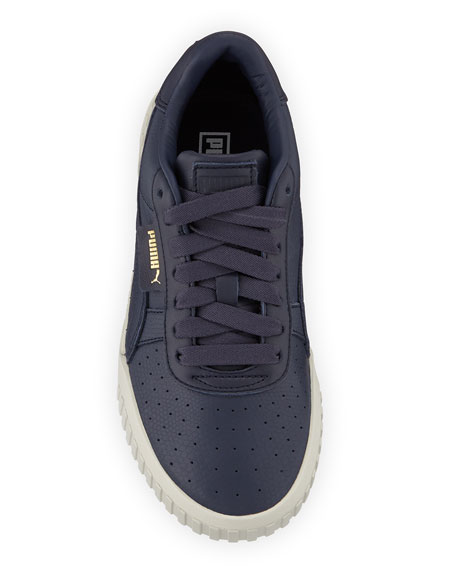 Puma Cali Low-Top Embossed Leather Sneakers