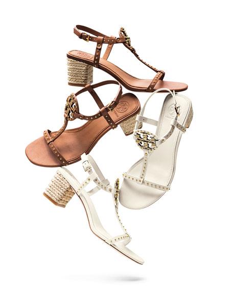 Miller Studded T-Strap Espadrille Sandals