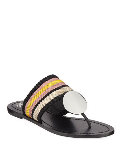 Patos Disk Web Strap Leather Sandals