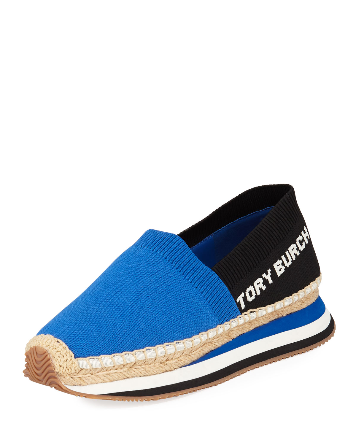81eed4420aca Tory Burch Daisy Stretch-Knit Espadrille Sneakers