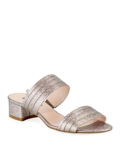 Bloom Glittered Slide Sandals