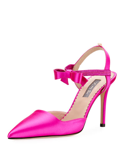 Pola Satin Bow Pumps