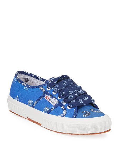 Alanui Sneakers BANDANA ANKLE-TIE CANVAS SNEAKERS