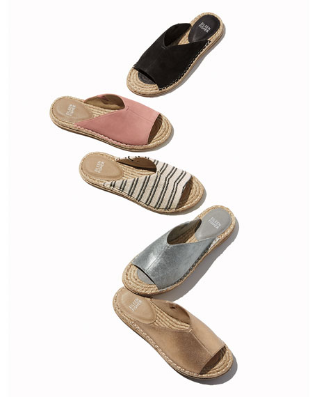 Eileen Fisher Milly Striped Canvas Espadrille Sandals