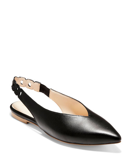 Cole Haan Flats MERRIT GRAND SMOOTH LEATHER SKIMMER FLATS