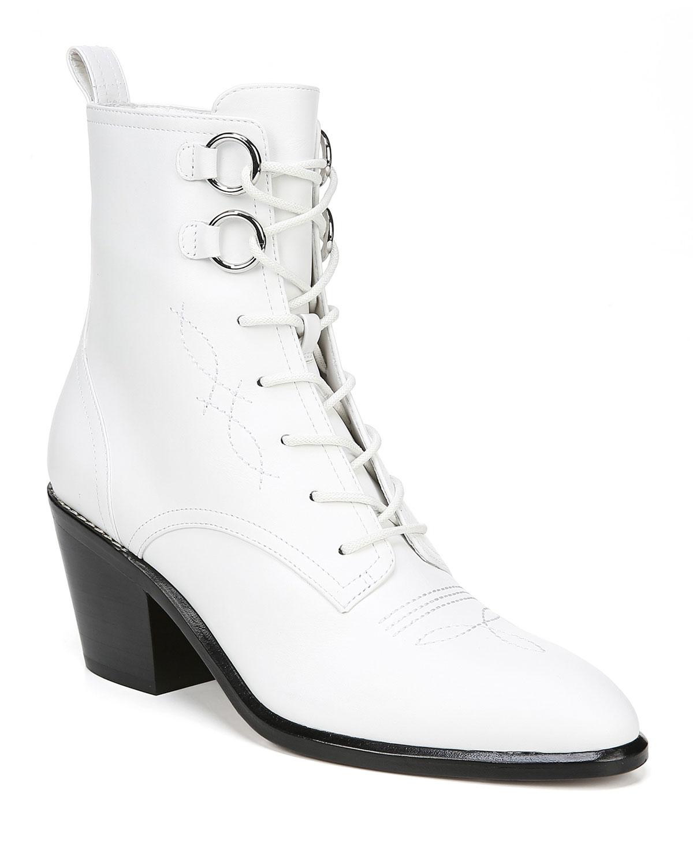 302a4da6cc Diane von Furstenberg Dakota Leather Lace-Up Boots | Neiman Marcus