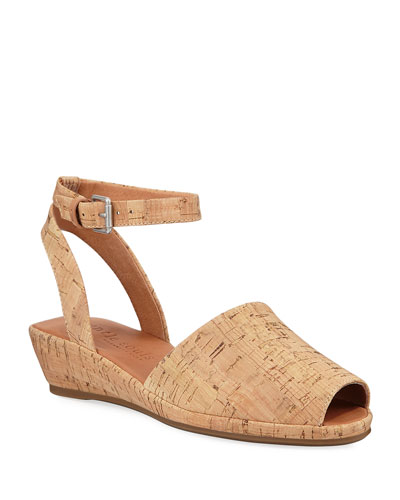 Lily Cork Wedge Sandals
