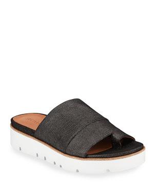 c1e918f1b9e Gentle Souls Lavern Easy Metallic Demi-Wedge Sandals