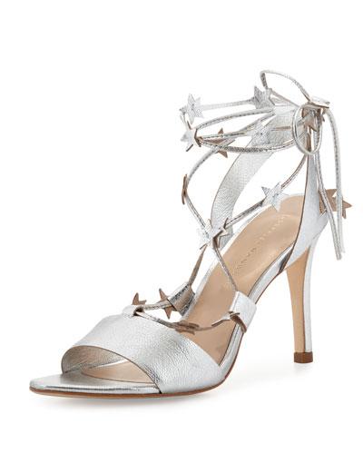 Arielle Strappy Star Sandals  Silver