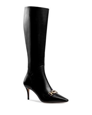 38f7009e9 Gucci Zumi Horsebit Knee Boots