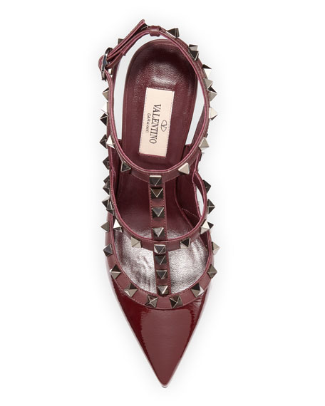 Valentino Rockstud Caged Ankle-Strap Pumps