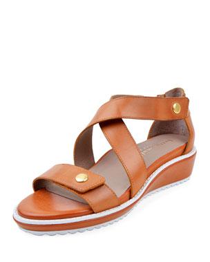 7fd853aeaec65 Bettye Muller Concept Tobi Leather Demi-Wedge Sandals