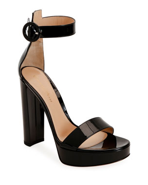 6183d3a16 Gianvito Rossi Patent Platform 100mm Sandals
