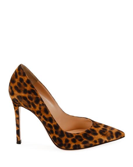Gianvito Rossi Leopard-Print Suede Stiletto Pumps