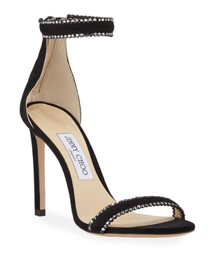 1f925e32735 Jimmy Choo Dochas Jeweled Ankle-Strap Sandals