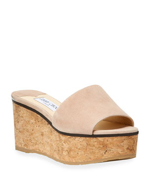 a762a45797b Jimmy Choo Deedee Suede Flatform Slide Sandals