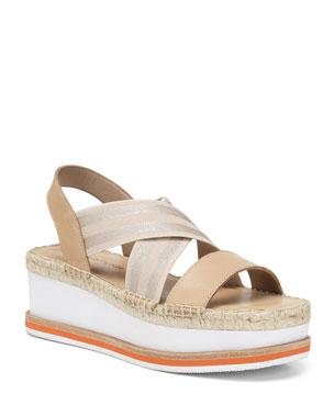 d079b5aba Donald J Pliner Audrey Comfort Metallic Wedge Sandals