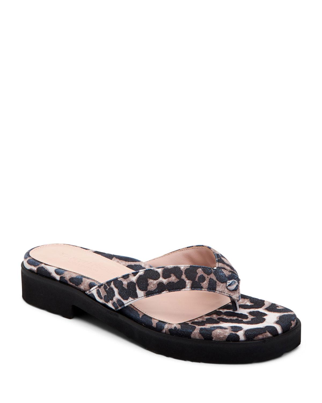 d3449b7d05a733 Taryn Rose Collection Taziana Leopard-Print Thong Sandals