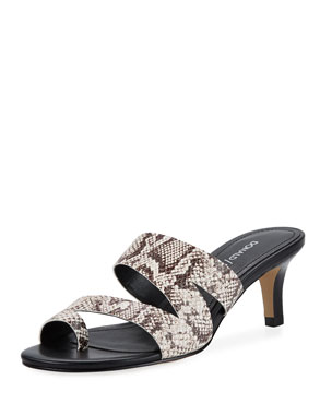 d8e696d03fa Donald J Pliner Klarisa Asymmetric Embossed Slide Sandals