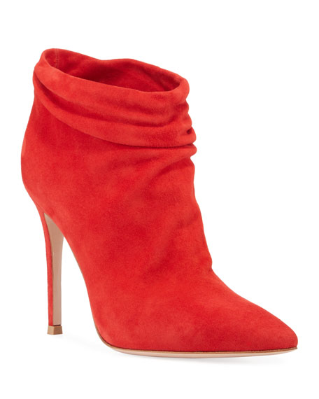 Image 1 of 3: Gianvito Rossi Slouchy Suede Ankle Booties