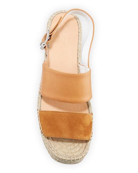 Rag & Bone Edie Leather Slingback Platform Sandals