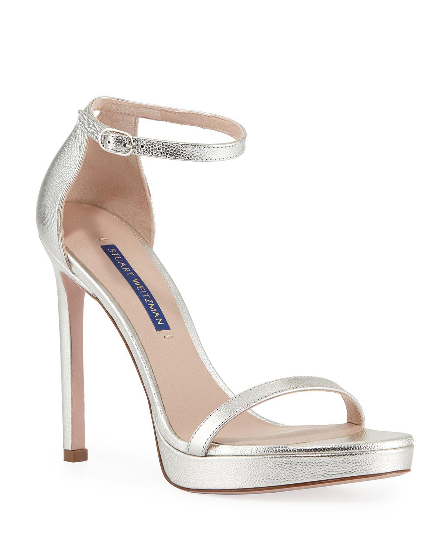 71d307143980 Stuart Weitzman Nudistdisco Metallic Patent Sandals