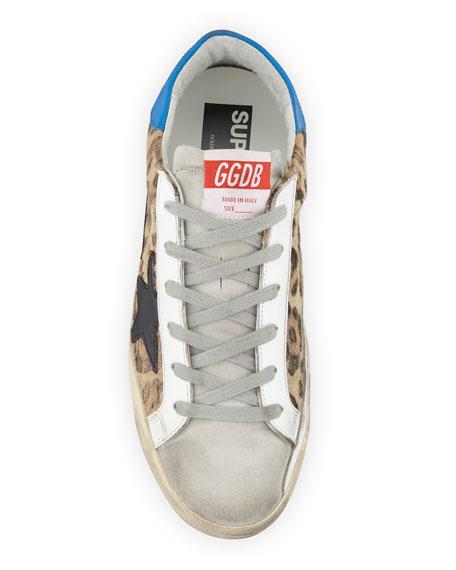 Golden Goose Superstar Leopard-Print Low-Top Sneakers