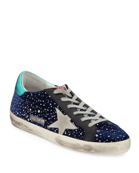 Golden Goose Superstar Velvet Sparkle Sneakers