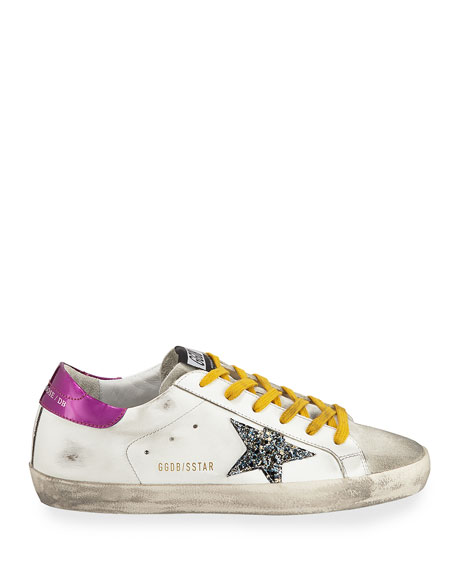 Golden Goose Superstar Mixed-Media Sneakers