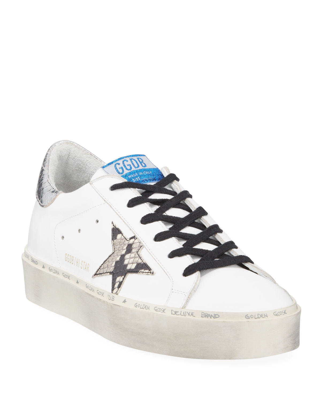 7b49367ce66 Golden Goose Hi Star Snake-Print Platform Sneakers
