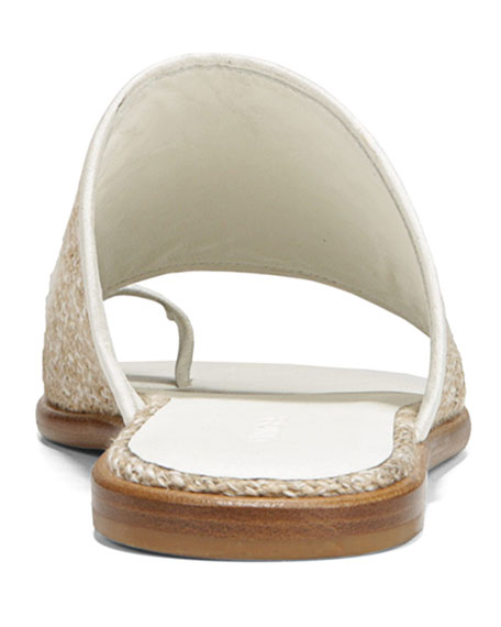 975e7f3ddbd2 Vince Women s Edan Linen Slide Sandals In White  Natural