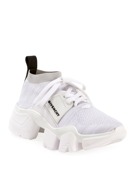 Givenchy Jaw Low-Top Sock Sneakers In White