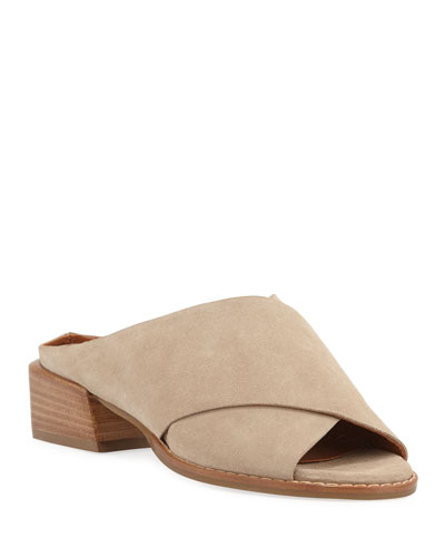 Helen Crisscross Suede Sandals