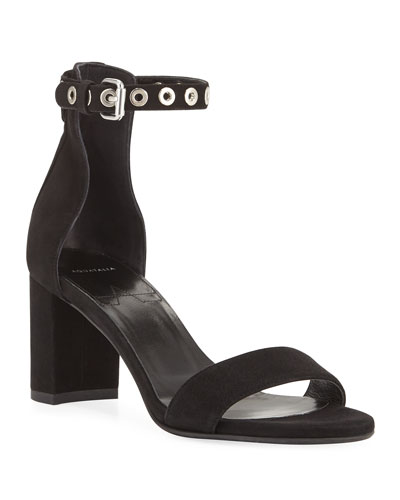 Selena Suede Ankle-Strap Sandals