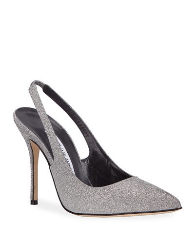 Allura Glittered Slingback Pumps