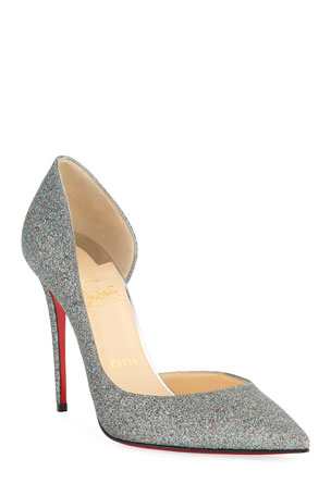 Christian Louboutin Iriza 100mm Glitter Red Sole Pumps