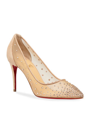 a33bd7f3a8 Christian Louboutin Follies Strass Red Sole Pumps