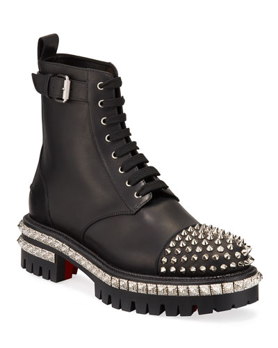 King Beaded Red Sole Booties