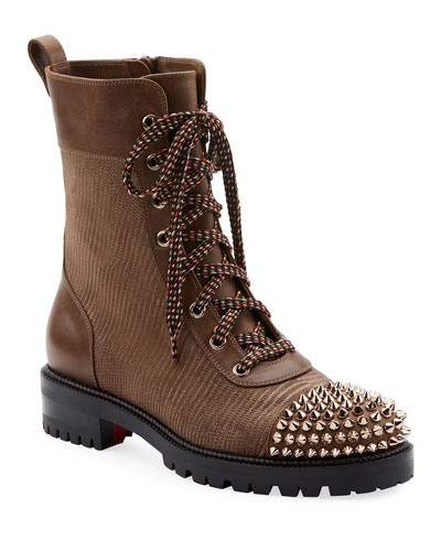 TS Croc Spike Red Sole Hiker Booties