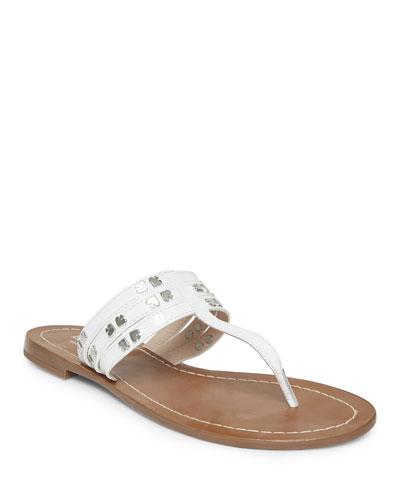carol studded thong sandals